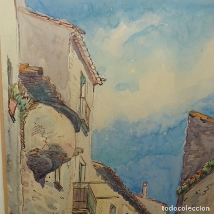 Arte: Acuarela anónima.muy buen trazo.maestro. - Foto 3 - 137254186