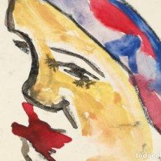 Arte: MUJER EN COLOR ACUARELA FIRMADA PINTOR OCAÑA. Lote 137318278
