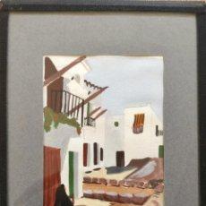 Arte: MARAVILLOSA ACUARELA ORIGINAL, PERA PARTES, IBIZA 1976. Lote 137408582