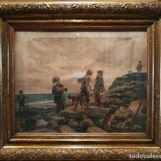 Arte: LOS CAZADORES Y LA GUARDIA CIVIL. 1876. POR JOSEP LLOVERA (1846-96). Lote 137429186