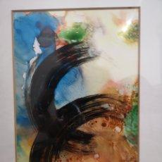 Arte: INTERESANTE ACUARELA, TECNICA MIXTA, OBRA ABSTRACTA, FIRMADA Y FECHADA. DESCONOZCO FIRMA. Lote 137549308
