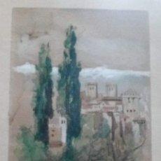 Arte: - GRANADA - JOAQUÍN MARTÍNEZ DE LA VEGA (MÁLAGA, 1846-1905) . Lote 137563966