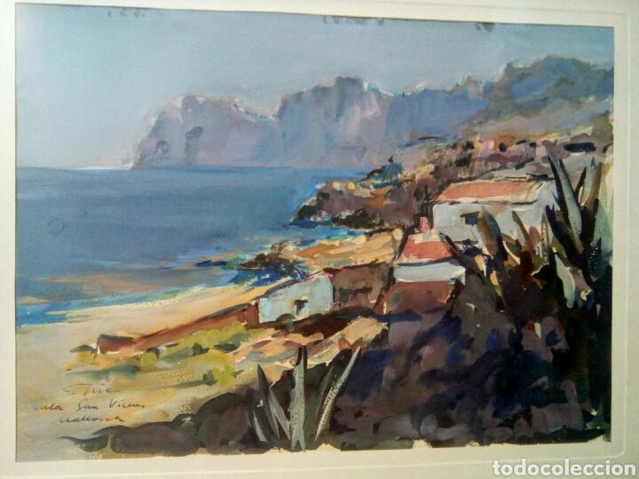 Arte: Fidel Trias Pages. (Sabadell 1918 -1971). Cala Sant Vicent. Mallorca. - Foto 2 - 137577341