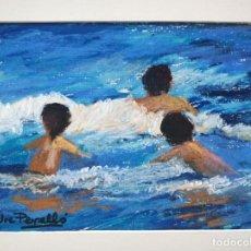 Arte: MARAVILLOSA MARINA ESTILO IMPRESIONISTA, BONITO TRAZO, FIRMADO JOE PERELLO. PASTEL. Lote 137641986