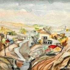Arte: ALEJANDRO BONOME (BUCHARDO, CÓRDOBA, 1915 - 1995) ACUARELA FECHADA EN 1947. CORDOBA (ARGENTINA). Lote 137876802