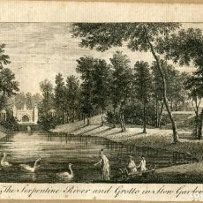 Arte: THE SERPENTINE RIVER AND GROTTO IN THE GARDENS 1776. Lote 138006786