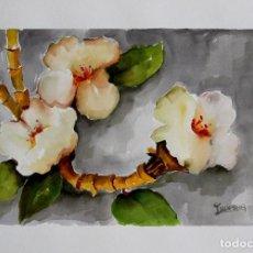 Arte: FLORES BLANCAS OBRA DE LUESMA. Lote 138534130