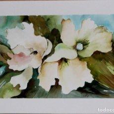 Arte: FLORES EN COLORES OBRA DE LUESMA. Lote 138534254