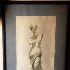 Arte: VENUS DE MILO- ACUARELA ENMARCADA- ESTUDIO DEL PINTOR-. Lote 138698078