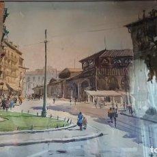 Arte: ANTIGUA ACUARELA MADRID RICARDO SACRISTÁN ARRIETA. Lote 138720038