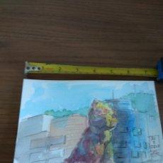 Arte: ACUARELA ACTUAL 19X14 APROX ACUARELA AGUADA CON TINTA CHINA PUPI MASCOTA GUGGENHEIM MUSEO BILBAO. Lote 138867380