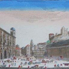 Arte: GRANADA, PLAZA SANTA ANA, ALHAMBRA, REAL CHANCILLERÍA, DAUMONT, 1770, VUE ...DE LA CHANCELLERIE.... Lote 138878634