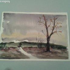 Arte: ACUARELA DOBLE (HAZ Y ENVÉS) SOBRE PAPEL.. Lote 138944950