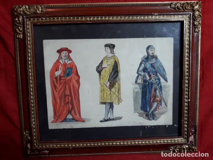 ACUARELA BOCETO E. ROSALES (Arte - Acuarelas - Modernas siglo XIX)