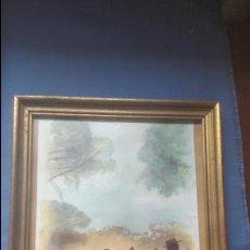 Arte: ACUARELA DE P. CASABONA - ESTAMPA ROCIERA - CAMINO DEL ROCIO - 33X27 CM CON EL MARCO. Lote 139285298