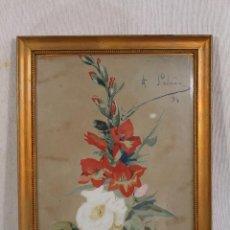 Arte: ACUARELA ORIGINAL FIRMADA J.SALCEDO 1894. Lote 139380946