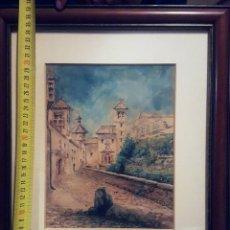 Arte: ACUARELA ENMARCADA DE LA ESCUELA ANDALUZA. Lote 139446170
