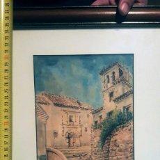 Arte: ACUARELA DE LA ESCUELA ANDALUZA, ENMARCADA. Lote 139446498