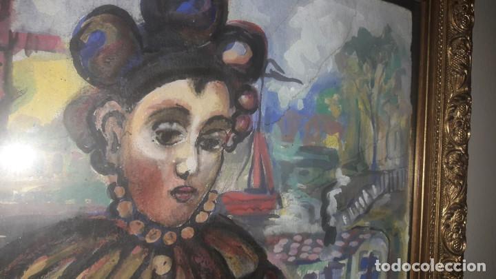 Arte: Preciosa acuarela, posiblemente francesa, de finales s. XIX - Foto 2 - 139772610