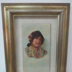 Arte: BONITA PINTURA AL ÓLEO SOBRE TABLA - RETRATO MODERNISTA - DAMA CON MANTÓN - FIRMA - AÑO 1902. Lote 140206310