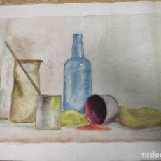 Arte: ACUARELA ORIGINAL ANTONIO MONTAGUD AÑOS 50. Lote 140300674