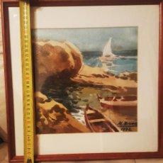 Arte: ACUARELA MARINA DE MARIANO BRUNET COLL (1918-1999). Lote 140512710