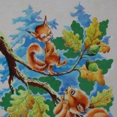 Arte: ILUSTRACIÓN ORIGINAL - CUENTO INFANTIL: NIÑOS CON ANIMALES - 3/11. Lote 140683610