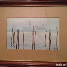 Arte: ACUARELA DE VENECIA DE VICENTE LEZAMA 1988. Lote 140771718