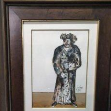 Arte: PERSONAJE POR JOSÉ LUCAS ( CIEZA, MURCIA 1945) FECHADO EN 1976. Lote 140798574