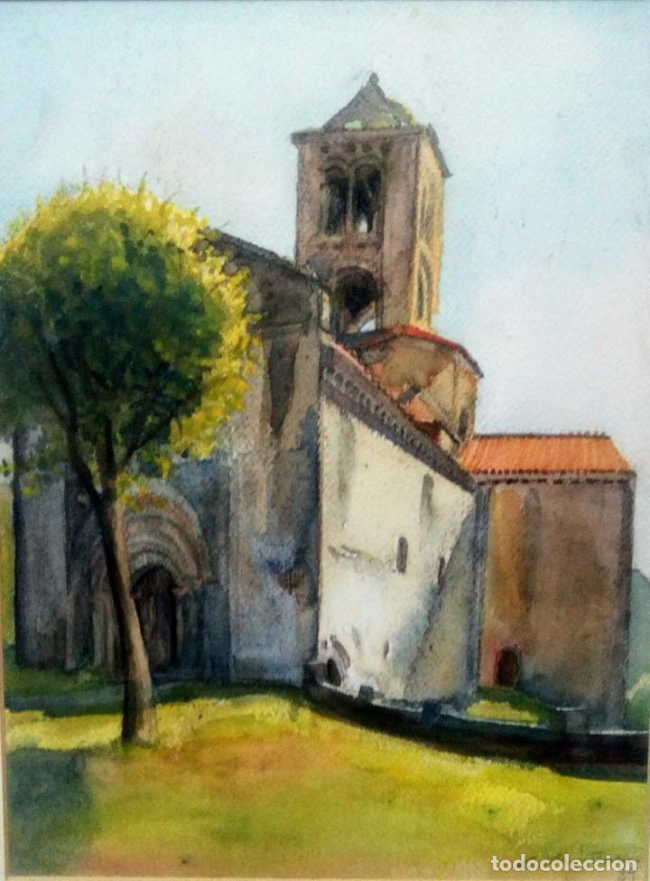 CARMEN MARTÍN , ERMITA ROMANICA (Arte - Acuarelas - Contemporáneas siglo XX)