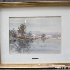 Art: ALBERT ESTRADA VILARRASA (1934), PAISAJE, ACUARELA. 75X61CM. Lote 141196234