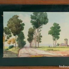 Arte: PAISAJE RURAL. ACUARELA SOBRE PAPEL. FIRMADO F. CASNOVAS. SIGLO XIX-XX. . Lote 141635794