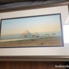 Arte: HERBERT TOMLINSON LOS PYRAMIDES DE GIZA. Lote 141760998
