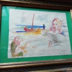 Arte: HOMENAJE A MILLET. JOSEP MOMPOU, TÉCNICA MIXTA, REGALO DE LIBRO DE SU OBRA.. Lote 141797360