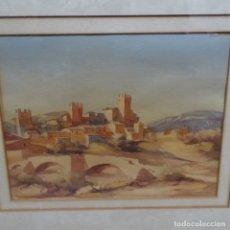 Arte: ACUARELA DE FRANCESC MESTRE FERRAN.(MONTBLANC,TARRAGONA).. Lote 142150582