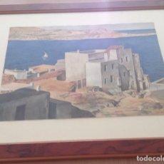 Arte: LLEÓ ARNAU, LLUÍS. (BARCELONA 1899 - 1982). ACUARELA ORIGINAL. IBIZA, DEDIC A J.ROIG-GUIVERNAU 1937. Lote 142755070