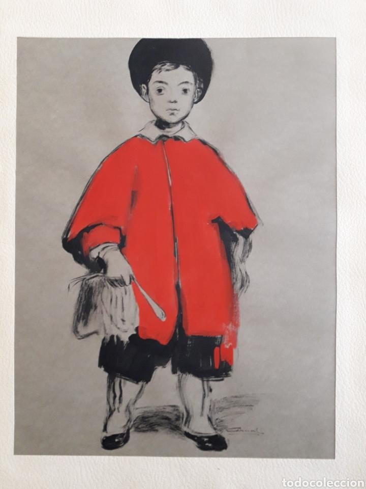 PINTURA SOBRE PAPEL. FIRMADO ILEGIBLE. (Arte - Acuarelas - Contemporáneas siglo XX)