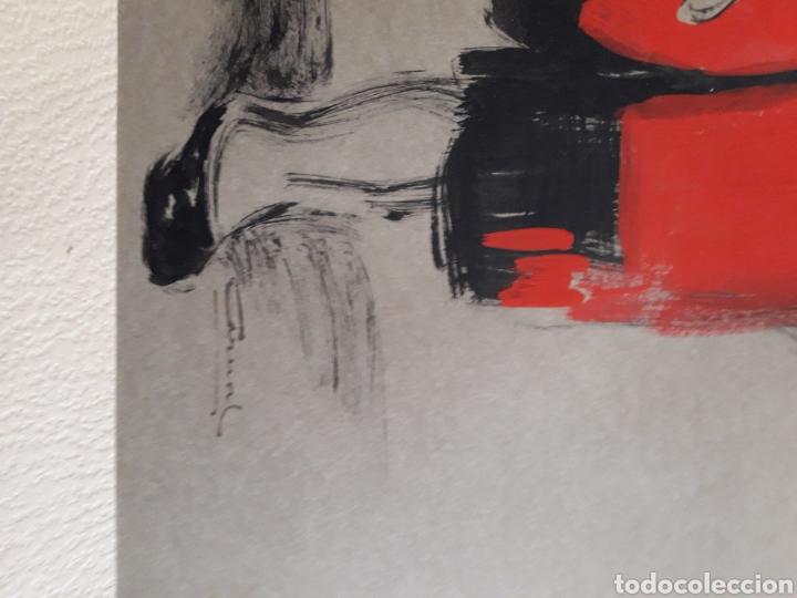 Arte: Pintura sobre papel. Firmado ilegible. - Foto 3 - 142854850