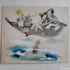 Arte: CARICATURA PINTADA CON TÉMPERA. OBRA DE 1950.. Lote 142864402