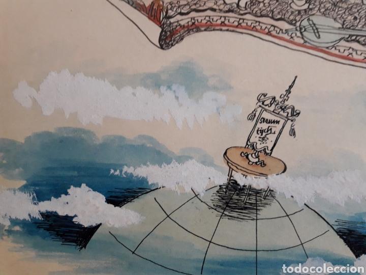 Arte: Caricatura pintada con Témpera. Obra de 1950. - Foto 2 - 142864402