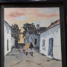 Arte: BOB HOLTKAMP. ACUARELA 1969. Lote 143027881