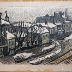 Arte: ODETTE BRURIAUX (1923-2003) - DIBUJO CON CERAS - PAISAJE NEVADO - MEDIADOS SIGLO XX. Lote 143207770