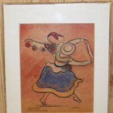 Arte: JEAN TARGET (1910-1997) - DIBUJO A CERAS - DOLORES HEREDIA Y PACO SÁNCHEZ AMOR SERRANO PERÚ. Lote 143294346
