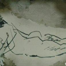 Arte: PEDRO GONZÁLEZ. GOUACHE FIRMADO Y FECHADO.. Lote 143453894