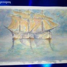 Arte: ACUARELA-MARINA-PINTOR J.AGRA-SÓLO PAPEL GRUESO-FIRMADA-VER FOTOS. Lote 142923906