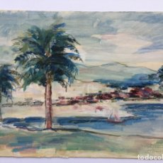 Arte: DAN BAJENARU ACUARELA ORIGINAL DEL AÑO 1935 , AUTOR DE RUMANÍA. Lote 57359616