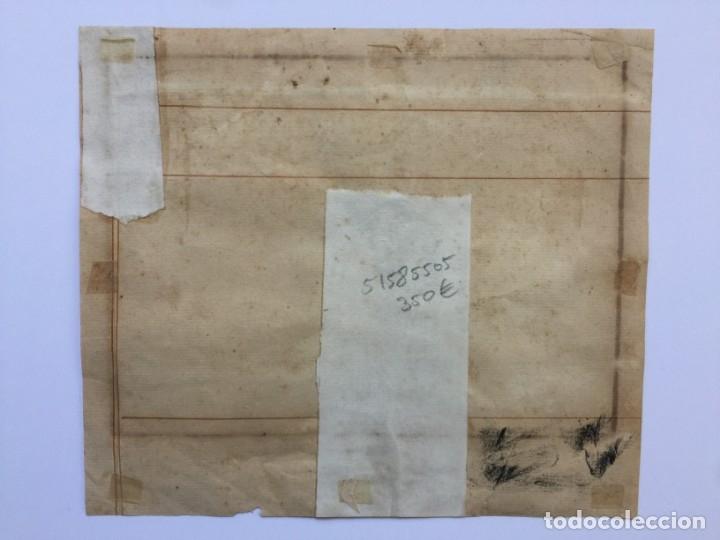 Arte: ACUARELA NAVAL DEL XVIII , VISTA DE UN NAVÍO INGLES CON TEXTO DESCRIPTIVO DE LA IMAGEN - Foto 7 - 51585505