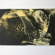 Arte: PINTURA ABSTRACTA ORIGINAL , REALIZADA A TINTA , CREUS 1972. Lote 79117421