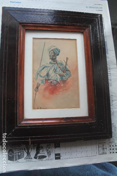 ACUARELA LUMINISTA FINALES DEL XIX; ESTILO FORTUNY (Arte - Acuarelas - Modernas siglo XIX)