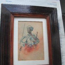 Arte: ACUARELA LUMINISTA FINALES DEL XIX; ESTILO FORTUNY. Lote 131295119